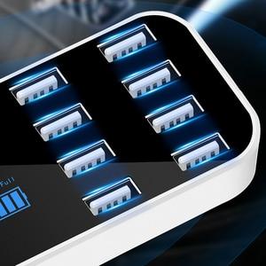 Image 5 - KEBIDU 8 Multi Port Charging Station USB Adapter Car Charger Smart Display Station 40W For iPhone Samsung Xiaomi Huawei 12V 24V
