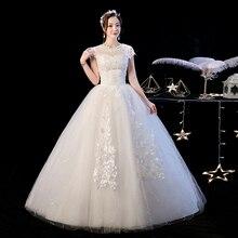 Ivory Lace Tulle Wedding Dresses Cap Sleeve Bride Dress Plus Size Maxi Formal 2-28W Vestidos De Novia Casamento