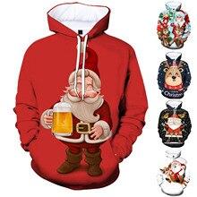 40# Women Men Sweatshirt Unisex Couples 3d Christmas Print Hoodies Tops Shirt Oversized Winter Pullover Sweatshirts Para Mujer