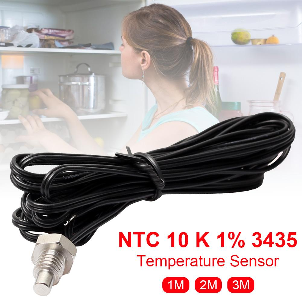 1/2/3m NTC M8 Stainless Steel Thermistor Temperature Sensor Waterproof Probe Wire Thermometer Probe R25=10K B=3435