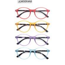 Óculos de leitura feminina matiz puro redondo elegante quadro leitores presbiopia óculos conforto espiral dobradiça com diopter
