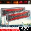 2 шт 12V Динамический светодиодный автомобиль задние светильник поворотник задний стоп-сигнал яркого обратный сигнальные лампы для прицеп д...