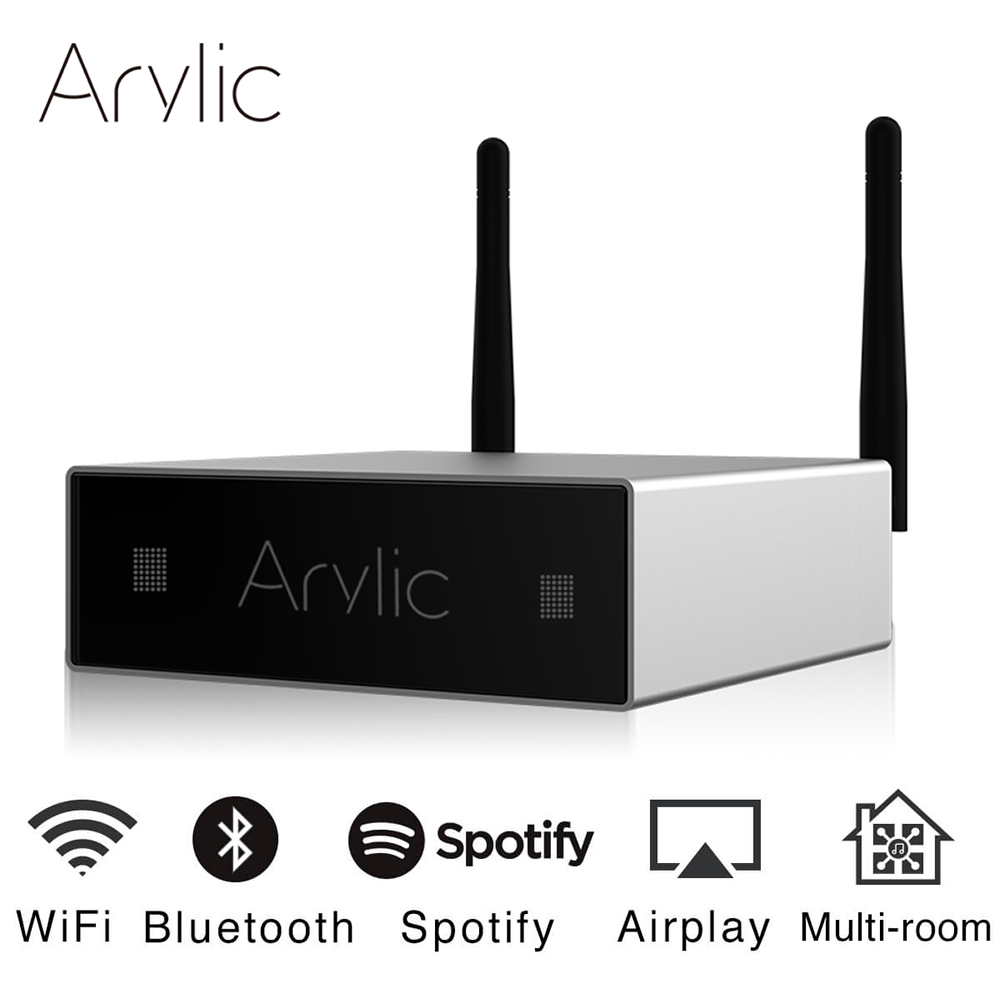 Arylic A50 Mini Home WiFi And Bluetooth HiFi Stereo Class D Digital Multiroom Amplifier With Spotify Airplay Equalizer Free App