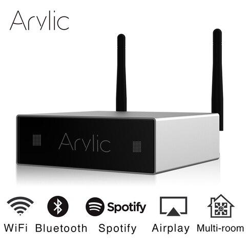 Wifi e Bluetooth Estéreo de Alta Amplificador com Spotify Arylic Mini Casa Fidelidade Classe d Digital Multiroom Airplay Equalizador Aplicativo Gratuito A50