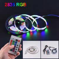 Tira de luces LED USB 2835SMD DC5V Flexible cinta de lámpara LED RGB 0,5 M 1M 2M 3M 4M 5M cinta de diodo de retroiluminación para pantalla de TV de escritorio