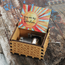 Music-Box You-Are-My-Sunshine-To-My-Wife Love-You Hand-Crank Wooden Valentine's-Day-Gift