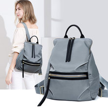 Women tassel leather backpack bags drawstring backpack solid color large backpacks for women Travel Shoulder Bag C1123(China)
