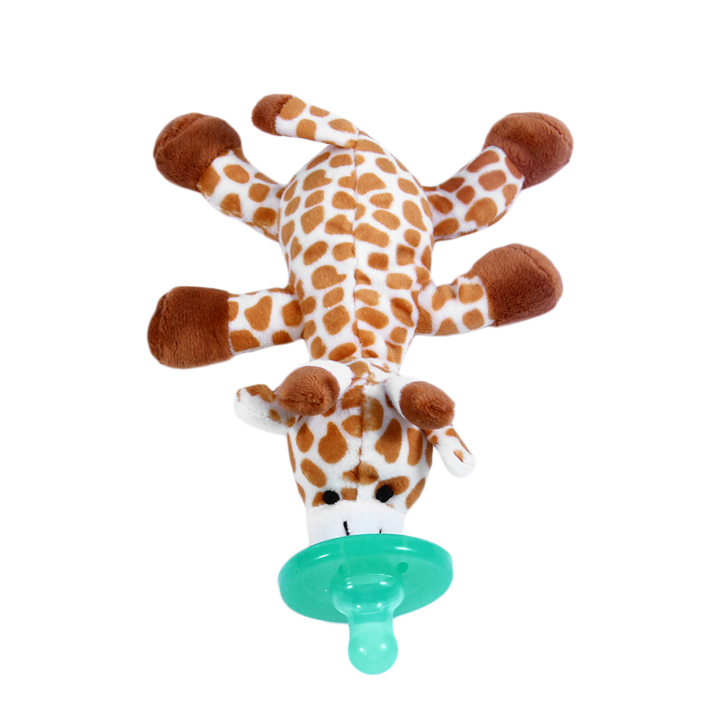 Cute Funny Newborn Baby Food-grade Silicone Cartoon Animal Pacifier With Soft Plush Toy BPA Free Dummy Nipple Teat Soother