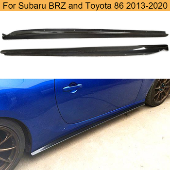 Car Side Skirts Bodykit For Subaru BRZ Toyota FT86 GT86 2013-2020 Body Kits Side Skirts Apron Lip Trim Cover Carbon Fiber image