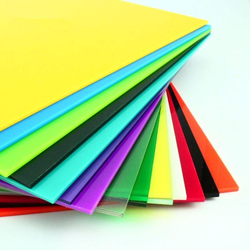 30*40cm Color Acrylic Sheet Plate Plastic Plexiglass Panel DIY Model Making Y51B