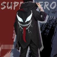 Venom Costume Spider Costume Man Hoodies Sweatshirts Superhero Venom Hoody Hooded Jacket Streetwear Halloween Costume Clothes