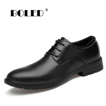 Genuine Leather Shoes Men Classic Lace Up Wedding Flats Shoes Handmade Office Dress Oxfords Men Shoes dxkzmcm handmade men flat leather men oxfords lace up business men formal shoes men dress shoes