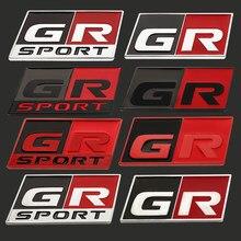 Новинка Стайлинг автомобиля 3D Гонки разработка GR Спорт наклейка эмблема наклейка для Toyota GR YARIS Спортивная Корона COROLLA REIZ гонки GR86