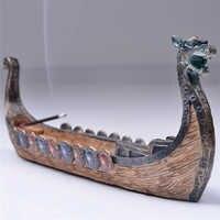 Drachen Boot Weihrauch Stick Halter Brenner Hand Geschnitzt Carving Räuchergefäß Ornamente Retro Weihrauch Brenner Traditionellen Design # SO