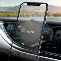 TOTU GPS Car Phone Holder Stand For Iphone 11 Pro Max XS Samsung S10 S9 Air Vent Mount Mobile Phone Holder In Car Holder|Phone Holders & Stands| |  -