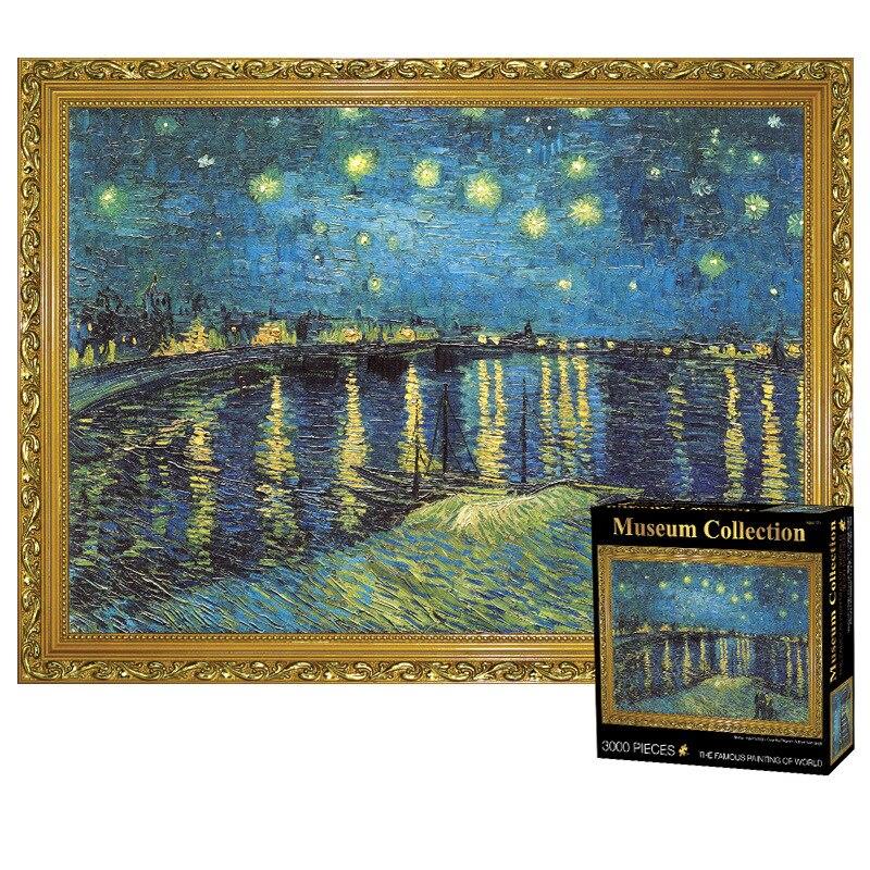 Puzzle 3000 pièces adulte mondialement célèbre nuit étoilée plus épais puzzle peinture à l'huile adulte shapeng Puzzle enfants jouets - 6