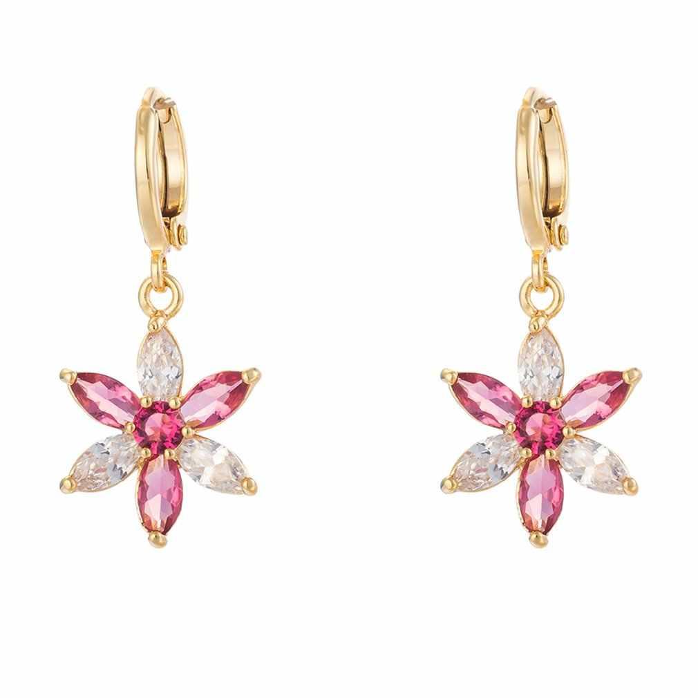 Цветок, Женское кольцо для ушей, серебряные украшения для ушей, изысканные модные серьги, серьги-гвоздики, кисточки, серьги, кольцо для ушей, крючок для подарка