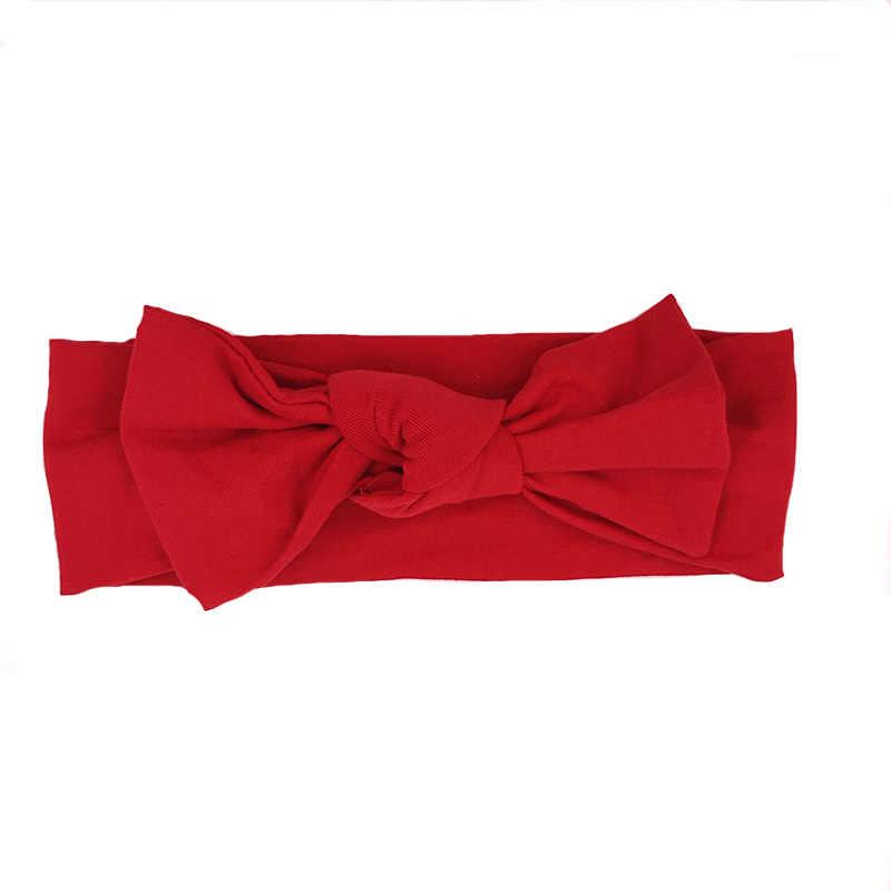 Bébé filles coton noeud noeud bandeau serre-tête pour enfants automne Dot Hariband cheveux accessoires enfant en bas âge Turband enfants hiver trucs