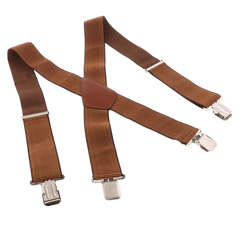 Fashion Mens Heavy Duty Wide Elastic Adjustable X Back Suspender For Jeans Biker Snowboard Trousers(39.37 X 1.97inch)