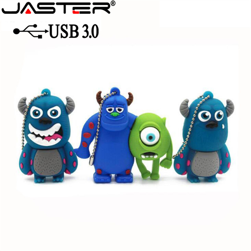 JASTER USB 3.0 Monsters University Mike USB Flash Drive Lovely Cartoon Pendrive 64GB/32GB/16GB/4GB Gift Memory Stick Usb Disk