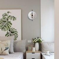 Nordic Minimalist Imitation Marble Round LED Wall Lamp LOFT Restaurant Wall Light Living Room Corridor Aisle Deco Light Fixtures