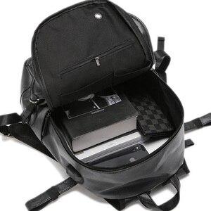 Image 4 - Kudian クマ男性バックパック防水バックパックファッション pu レザー旅行バッグカジュアルスクールバッグティーンエイジャーランドセル BIX301 PM49