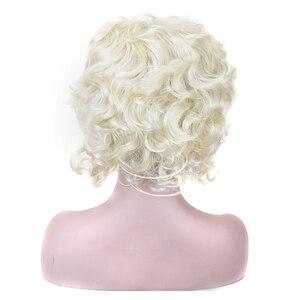Image 4 - شعر مستعار الاصطناعية الشعر الأبيض شقراء ماري أنطوانيت الأميرة الباروكة لعيد الهالوين زي