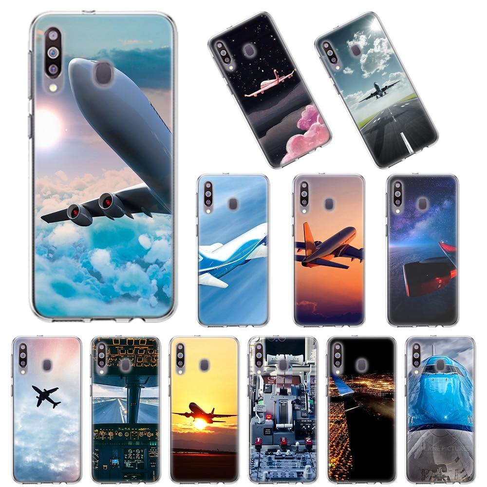 Мягкие ТПУ чехлы для Samsung Galaxy A10 A10E A20E A20s A30 A40 A50 A70 A11 A41 A51 A71 A91, чехол для самолета, самолета, самолета