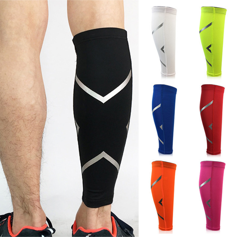Sport Leg Socks Sleeve Support Lower Leg Basketball Sports Reflective Strip