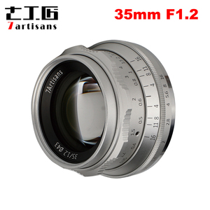 Image 1 - 7artisans lente Prime de 35mm F1.2 para Sony e mount/para Fuji XF APS C, lente fija de enfoque Manual para cámara sin espejo A6500 A6300 X A1