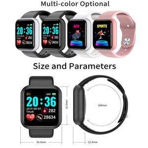 Image 5 - Reloj inteligente Ip67 para Android e IOS, reloj inteligente electrónico con control del ritmo cardíaco y de la presión sanguínea y resistente al agua para monitor, seguidor Fitness