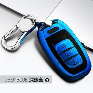 Image 4 - Wysokiej jakości TPU Chrome obudowa kluczyka do samochodu pokrywa torba pasuje do Audi Q5 A4 A5 A6 A7 A8 S5 S6 S7 S8 obudowa kluczyka Protector Auto breloczki