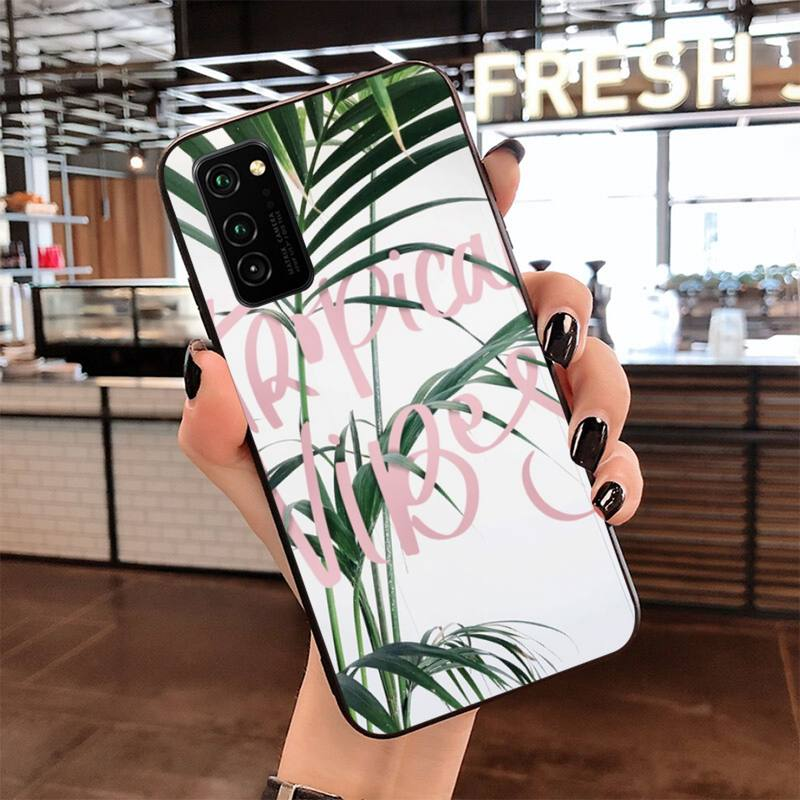 tropical vibes leaf DIY Luxury Phone Case for Samsung S20 plus Ultra S6 S7 edge S8 S9 plus S10 5G lite 2020