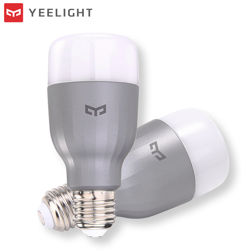 Yeelight YLDP02YL E27 9W RGBW WiFi Smart LED Bulb Work With Google Assistant AC220V for Desk Lamp Table Spotlights Dimmable