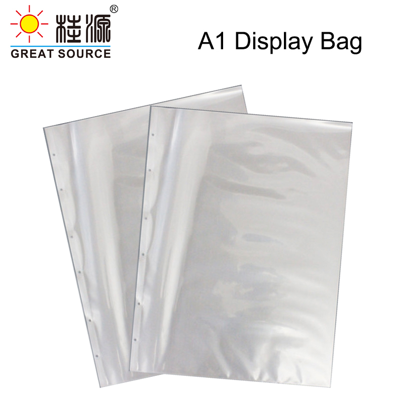 """A1 Presentation Bag A1 Binder File Bag 6 Holes For A1 Binder Folder Document W610*H845mm(24.02"""" * 33.27"""") (30pcs)"""