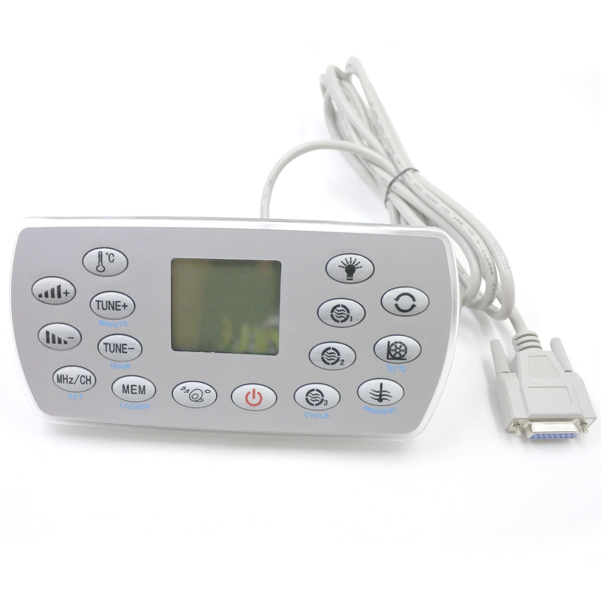 KL8-3 Spa Keypad With White Lock Backside, Hot Tub Controller Panel Fit  For JAZZI,J&J,SERVE,kingston,monalisa,mesda,LX Heater