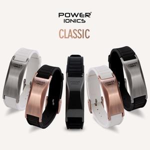 Image 1 - Potência ionics antifadiga silicone titanium íons equilíbrio turmalina germânio encantos pulseira pulseiras rotulação livre