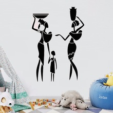Vinyl Wall Decal African Family Women Child Ethnic Style Art Africa Stickers Mural Unique Gift House Decoration LW463
