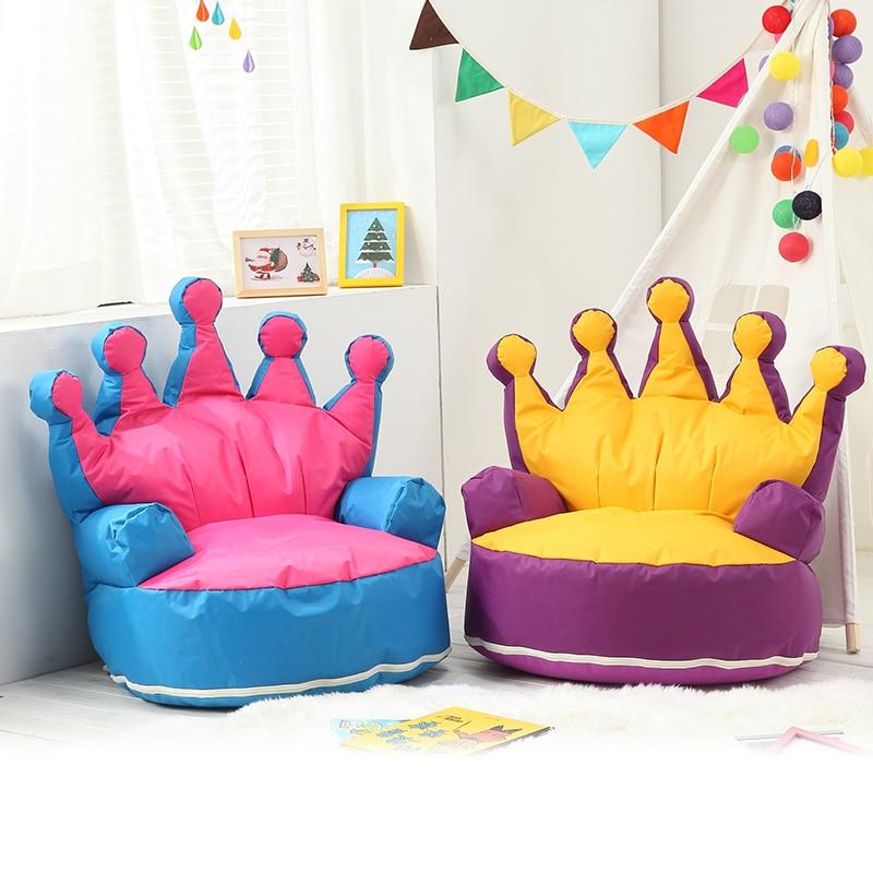 Explosion Models Children's Sofa Small Sofa Princess Single Crown Seat Cartoon Baby Play House Cute Creative Tatami