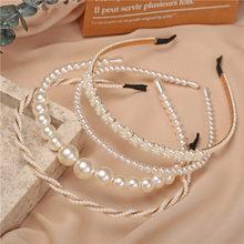 Diadema de perlas grandes a la moda de 17KM para mujeres y niñas, diadema de pelo Vintage para mujer, novedad de 2020, accesorios para el cabello, tocado de joyería