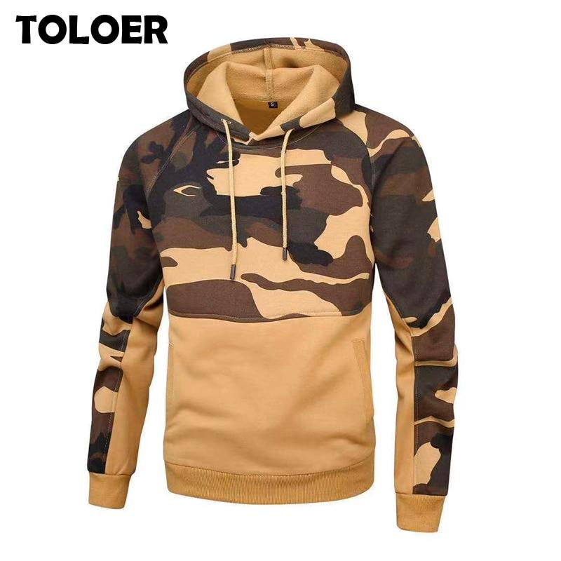2020 Camouflage Hoodies Men Casual Print Hip Hoodie Streetwear Male Fashion Slim Full Sleeve Camo Pullover Man Hooded Sweatshirt