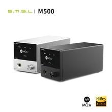 SMSL M500 MQA USB DACหูฟังแอมพลิฟายเออร์ES9038PROถอดรหัสเสียงXMOS XU216 DSD512 32Bit/768KHz USB/OPT/COAX INPUT