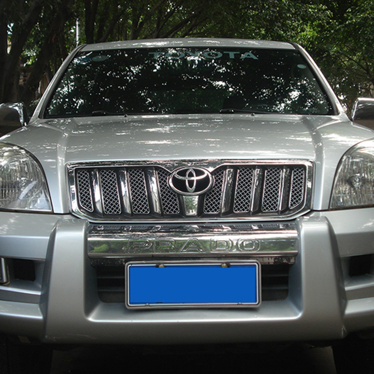 Stainless Steel Front Meshes for <font><b>Toyota</b></font> <font><b>Land</b></font> <font><b>Cruiser</b></font> <font><b>Prado</b></font> <font><b>120</b></font> <font><b>2003</b></font> 2004 2005 2006 2007 2008 <font><b>2009</b></font> Accessories image
