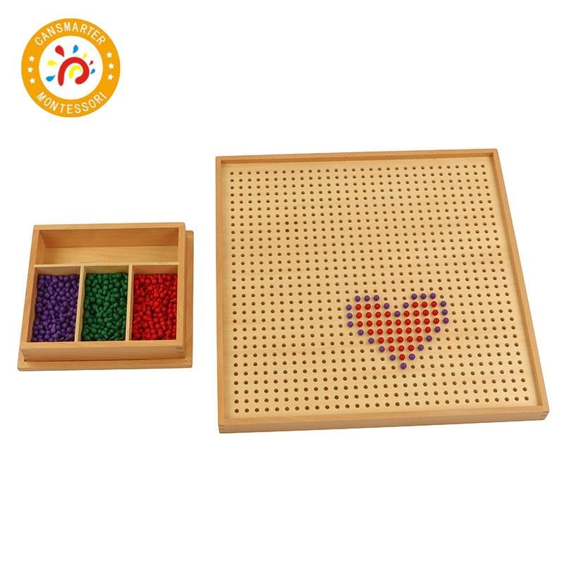 Montessori matériel bébé jouet en bois cheville conseil avec chevilles enfants enseignement aides mathématiques jouet