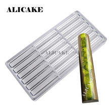 Cylinder Stick Chocolate Molds Polycarbonate Thick Cake Chocolate Bar Tray Moulds Form for Bakery Baking Mold Pastry Tools