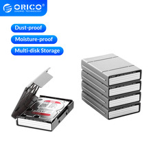 ORICO 3.5 Inch HDD ProtectIon Box 5 PCS Storage Box Multi-disk Storage For HDD SSD With label Design