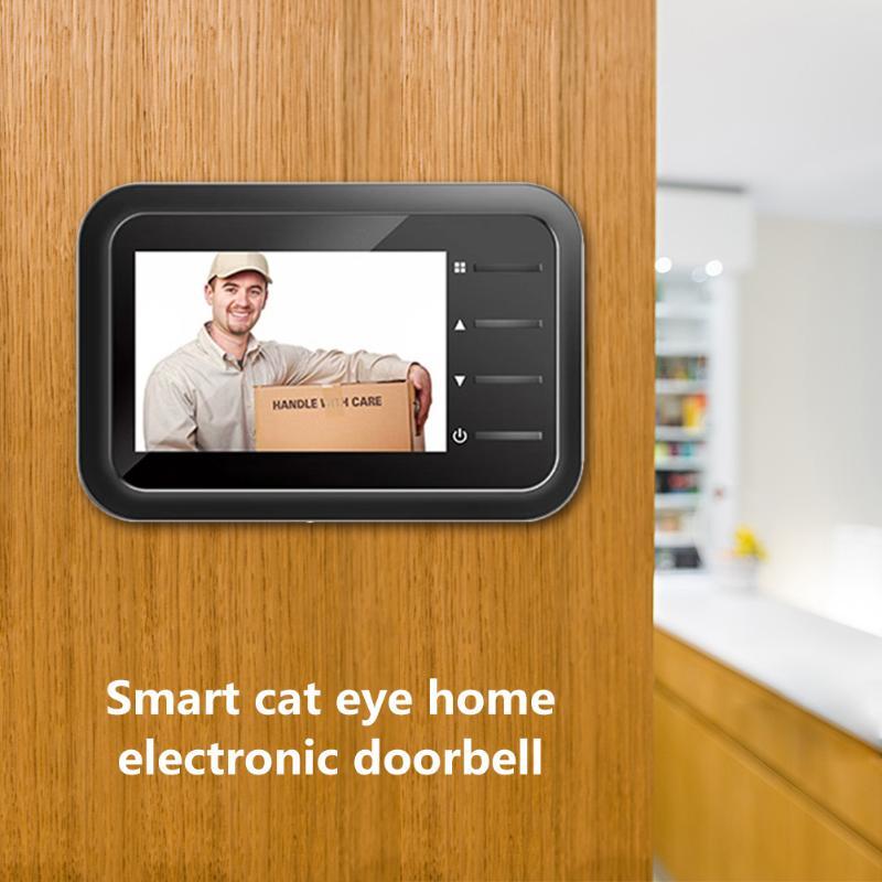 2.4 Inch Color Screen Digital Doorbell 120 Degree Door Eye Doorbell Smart Power Saving New Home Security Household Supply Device