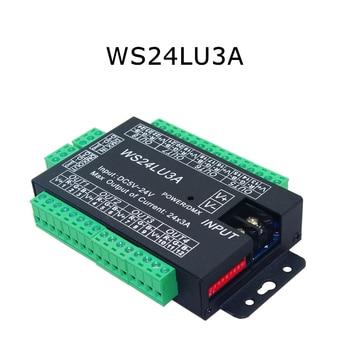 цена на 24CH DMX512 Controller Decoder RGB Controlle LED Strip Module Dump Node WS24LU3A 5-24V LED Decoder Constant Voltage Common Anode