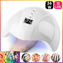 36W Nail Dryer Light UV LED Gel Smart Quick-Drying Induction Lamp