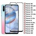 Закаленное стекло 99D для Huawei Honor 30 20 10 Lite V30 V20 V10 30i 20i 10i, Защитная пленка для экрана Honor 9 8 Lite V9 Play, стеклянная пленка